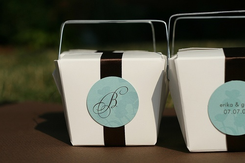 Takeaway favour containers diy
