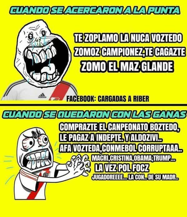 Tras el título de Boca, las redes se plagaron de memes con cargadas a River - Infobae