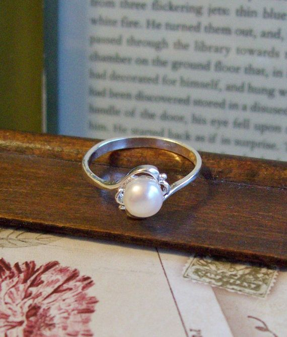 pearl engagement ring, yes.
