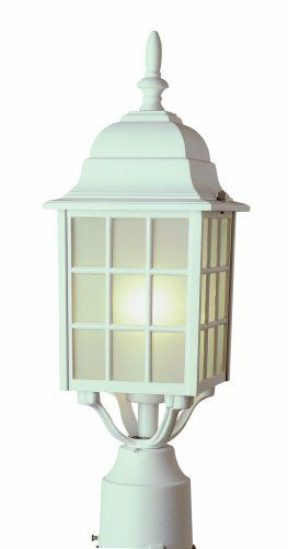 "Trans Globe Lighting 4421 WH 18-1/2-Inch 1-Light Outdoor Post Top Lantern, White by Trans Globe Lighting. $47.31. From the Manufacturer                Trans Globe Lighting 4421 WH 18-1/2-Inch 1-Light Outdoor Post Top Lantern, White                                    Product Description                Height : 18.5""  Diameter / Width : 6""  Lamping : (1) 100W Medium Base (Bulb Not Included)"