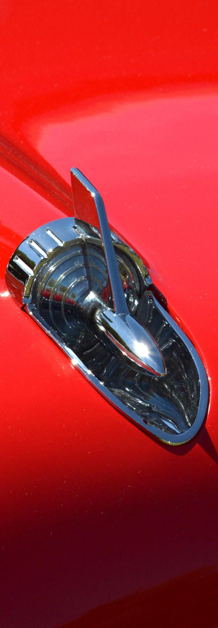Red 57 Chevy Hood By Http://dean Ferreira.artistwebsites.com