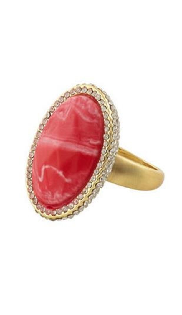 Oversized Statement Ring! Bold Red and Gold Marina Cocktail Ring!  #Red #Gold #Marina #Cocktail #Ring #Summer #Fashion #Jewelry #Gift #Ideas