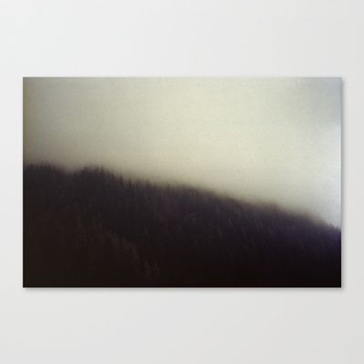 Fog over the Mountains Stretched Canvas by Aziza Vasco - $85.00