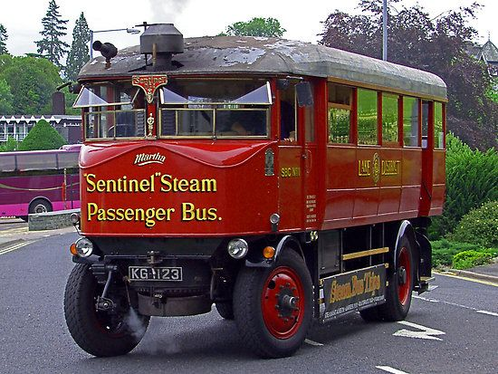 """Sentinel Steam Bus – 8714 - KG 1132 """"Martha"""". The Sentinel arrived in the Lake District just before August Bank Holiday 2002."""