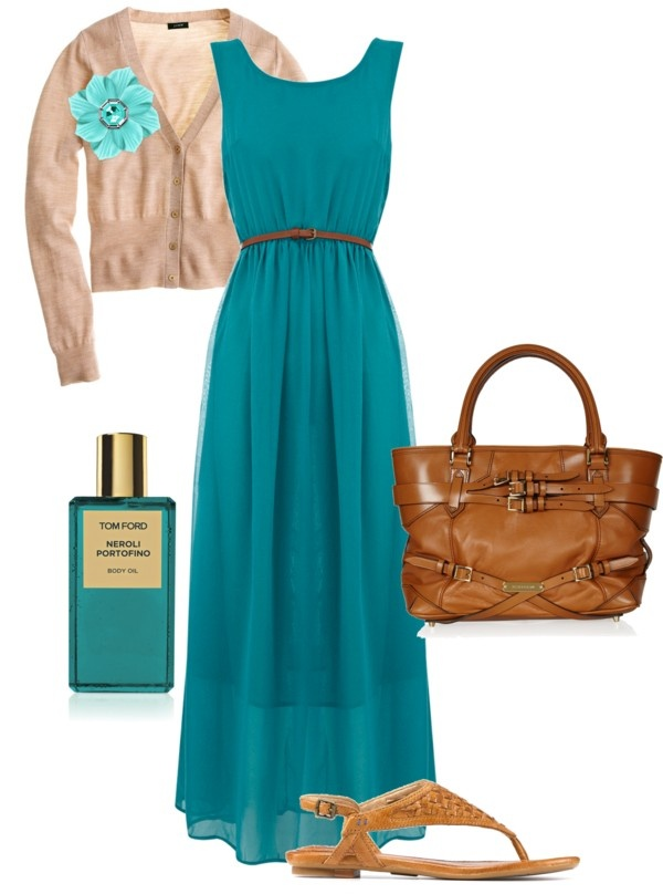 """Brown and Turqoise"" by audreyfultz18 ❤ liked on Polyvore"