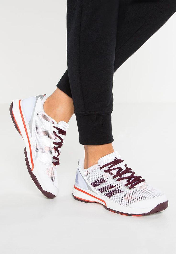 adidas Performance STABIL BOOST 20Y - Handball shoes - white/maroon/energy - Zalando.co.uk