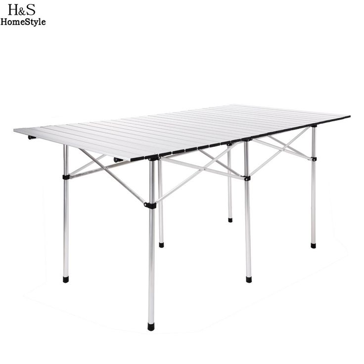 Outdoor Table Aluminium Alloy Portable Foldable Table Desk for Camping Picnic Travel Fishing BBQ