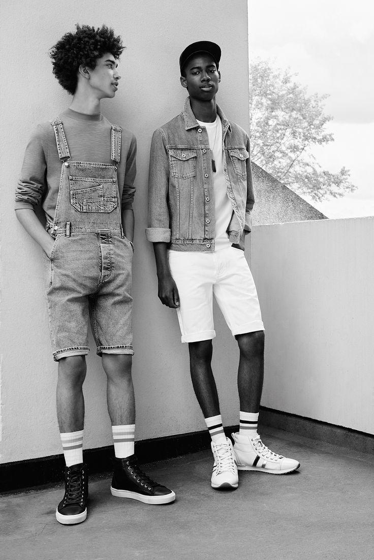 Dungarees, denim shorts and denim jacket - Topman This is Denim campaign AW15