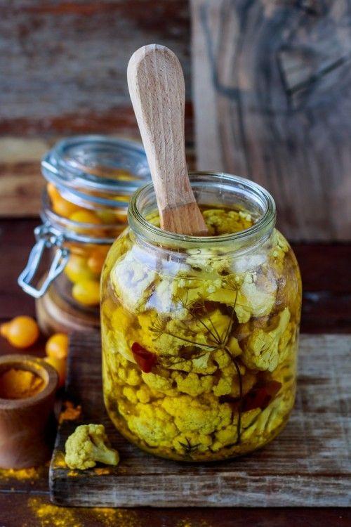 Kurkumás-ecetes karfiol recept