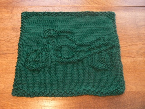 Hand Knit Marvelous Motorcycle Dishcloth or Washcloth ...