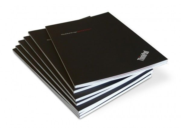 ThinkPad Design: Spirit & Essence books stacked and ready for the MoMA anniversary event.