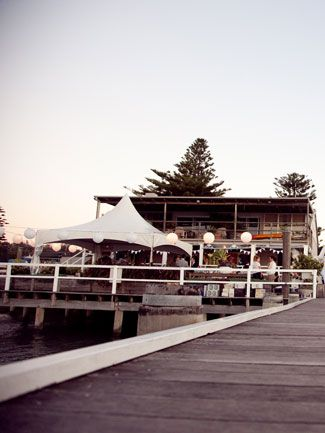 Perfect venue for a relaxed beach side wedding reception - The Boat House, Palm Beach NSW