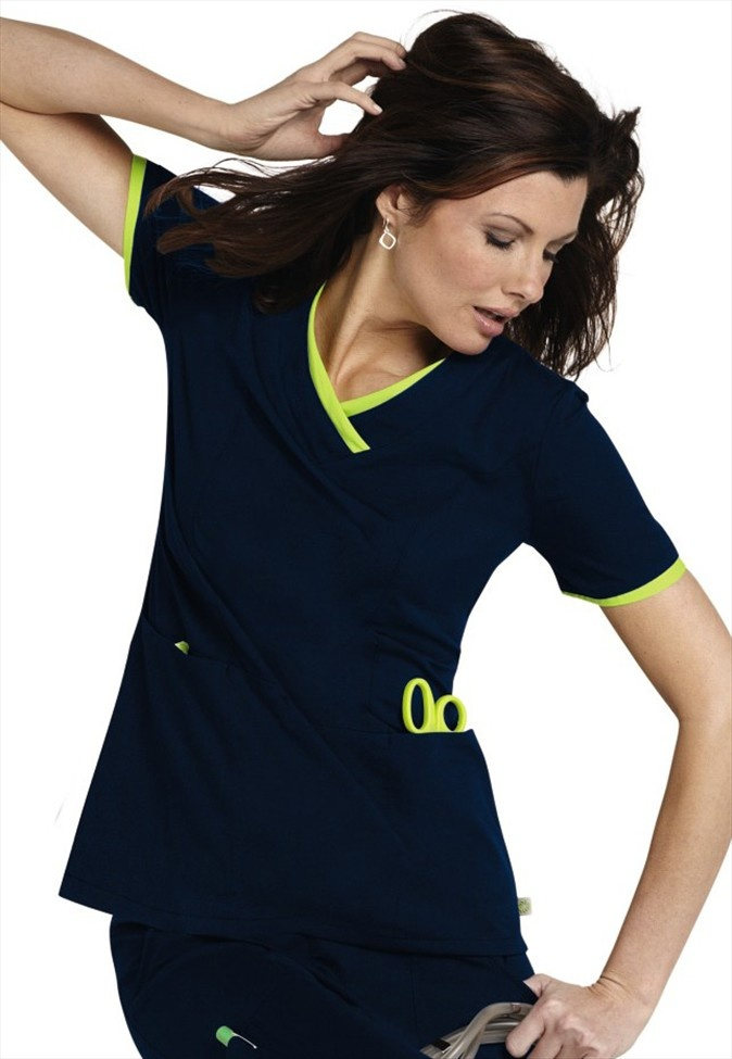 """This is very cute but my question is """"Why is she posing like this in scrubs?"""" Lol!"""