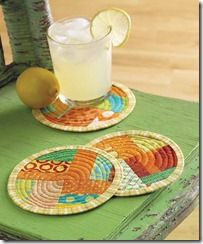 No Sew Coasters  Replacement or addition (for seasons, holidays, etc.) to tile coasters to absorb liquid???  @Redeemed Ministries