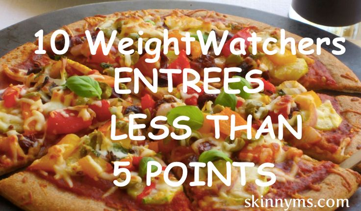 If you count WeightWatchers points you can't afford to miss out on these entrees that are 5 points or less!! Zucchini  & Bell Pepper Pizza anyone? #weightwatchers