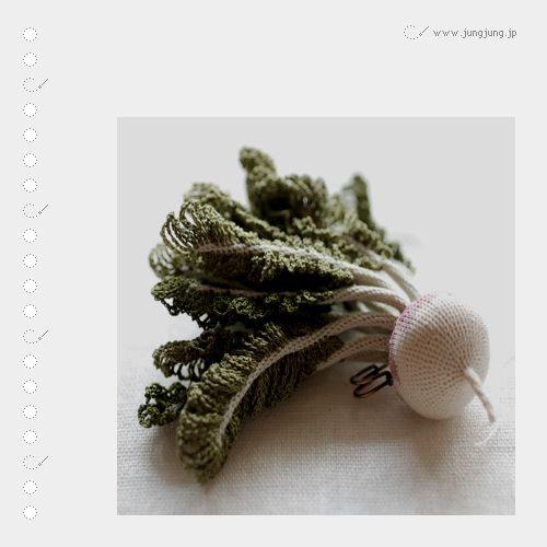 Incredible crochet veggies..Knits Crochet, Crochet Vegetables, Jung Jung, Art, Crochet Veggies, Itoamika Jungjung, Amazing Knits, Knits Vegetables, Amazing Crochet