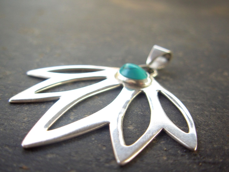 Turquoise Pendant, by Taller Maranatha