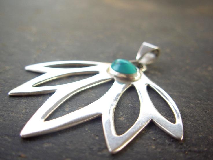 Turquoise Pendant, by Taller Maranatha