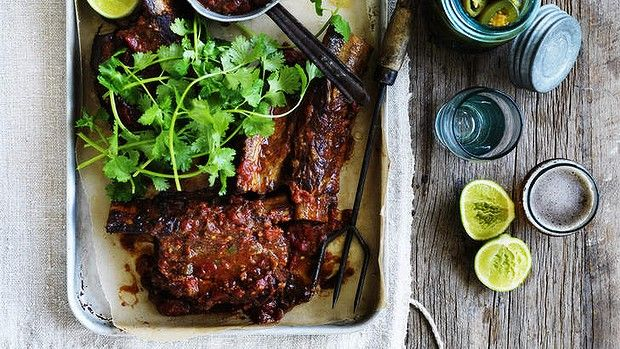 Meat [rich, slow-braise] | Neil Perry's Mexican-style braised beef short ribs - Recipe untried