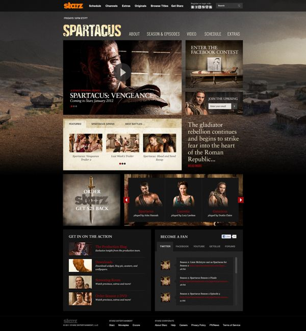 Spartacus by Justin Freiler, via Behance