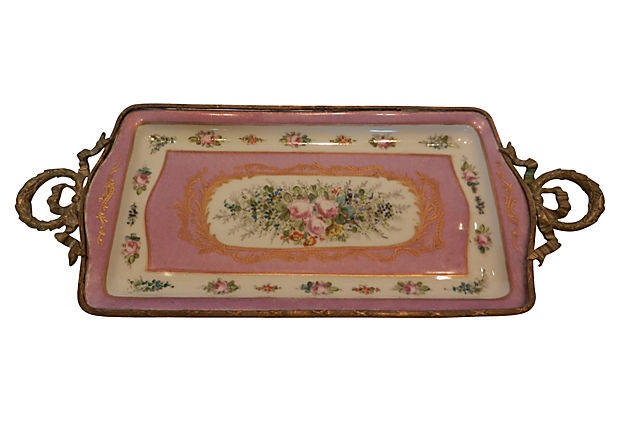 Hand-Painted French Sevres Dresser Tray on OneKingsLane.com