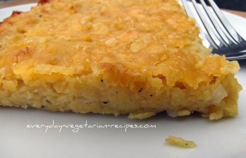 Baked Lentils with Cheese.- made for dinner and very good.  Reminded us of hashbrown casserole.