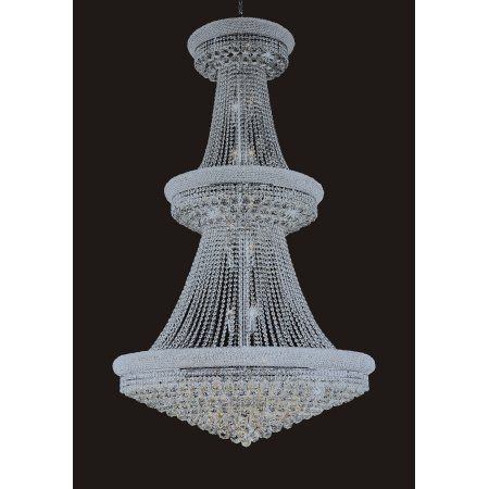 B Lighting Inc 1006H-40MM 42 inchW x 72 inchH In Chrome Color Full Crystal Chandelier
