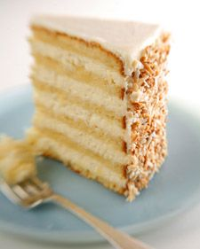 This delicious, multi-layered coconut cake is courtesy of Robert Carter from the Peninsula Grill, in Charleston, South Carolina. - Gotta try this. Now only to find people who enjoy coconut as much as I do! #thanksmarthastewart