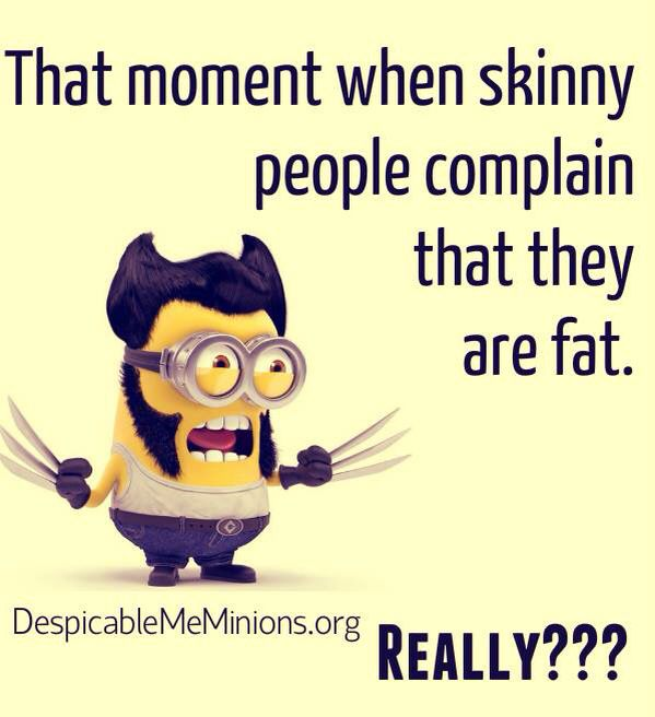 That Moment When Skinny People Complain That They Are Fat Funny