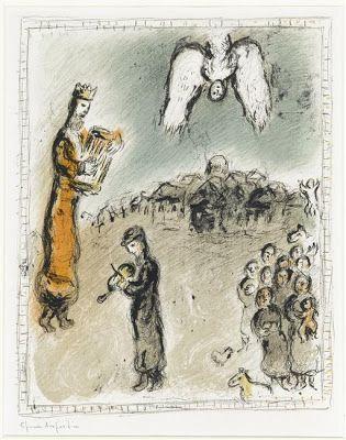 TICMUSart: Appearance of king David - Marc Chagall (1980) (I.M.)