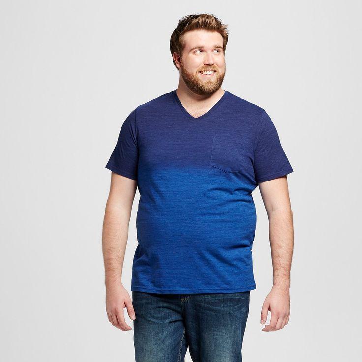 Men's Big & Tall V-Neck T-Shirt Navy Xlt - Mossimo Supply Co., Size: XL Tall, Stargaze Navy