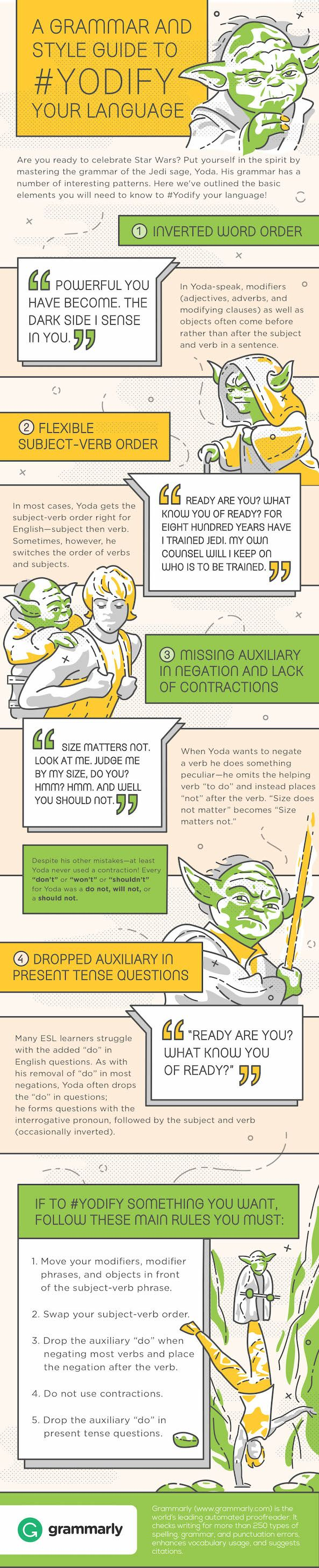 Star Wars Grammar By Yoda  Terrific infographic, this is. Learn much, you will.