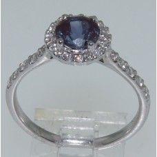 Création Luxedor, bague avec Alexandrite chattam et diamants