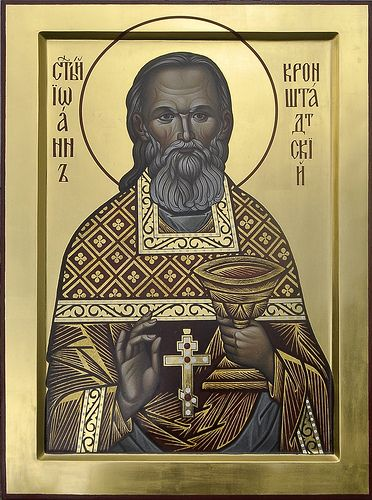 Икона праведного Иоанна Кронштадтского_иконописец Наталия Зельцер   Flickr -