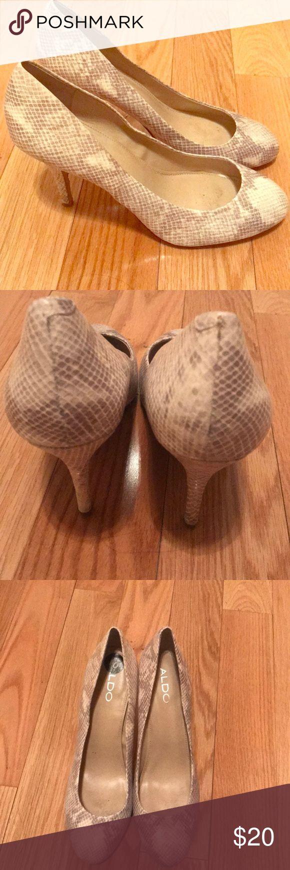 Aldo zebra heels Worn few times, great condition! 2.5 inch heel. Aldo Shoes Heels