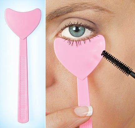 Mascara shield... cleverMascaras Tips, Business Cards, Good Ideas, Gift Ideas, Makeup, Beautiful, Plastic Spoons, Mascaras Shields, Popsicle Sticks