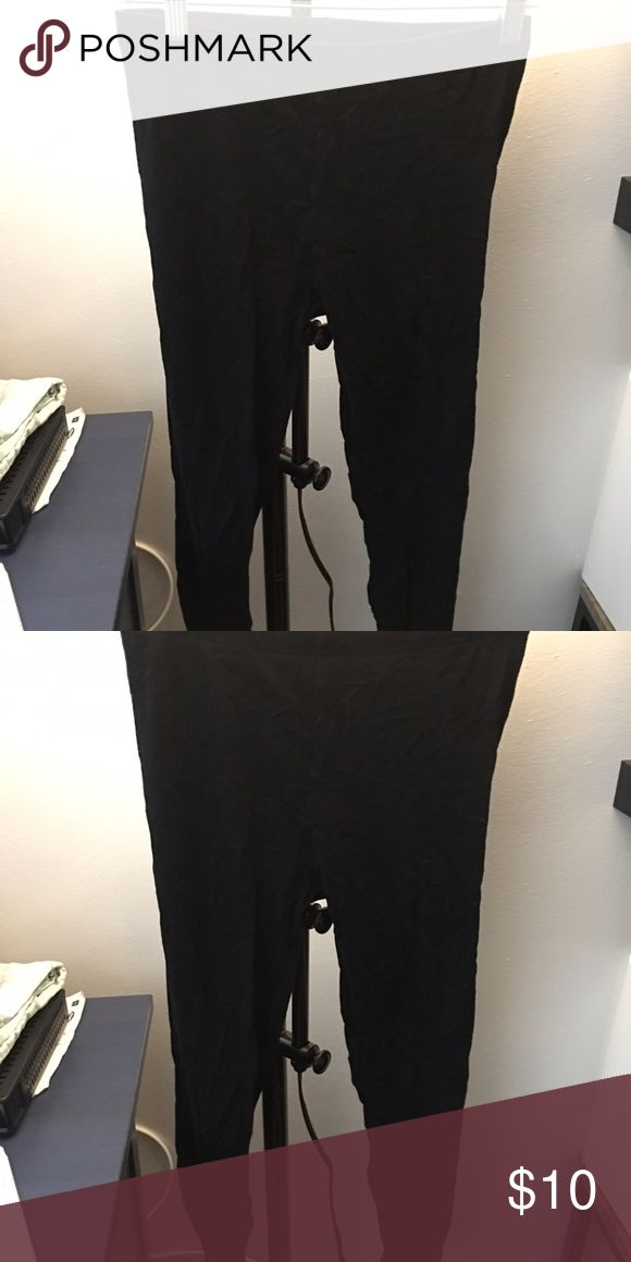 Black Uniqlo leggings - one size Black Uniqlo cotton leggings. One size fits all. Good condition, worn once. Comes from non-smoking home. Uniqlo Pants Leggings