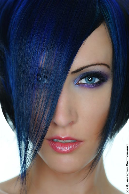 One of the best blues I've ever seen #hair: Style, Haircolor, Makeup, Blue Hair, Beauty, Hair Colour, Hair Color, Dark Blue, Eye