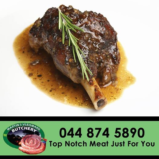 Feast on this top quality #lamb #shank from Martin's Vleismark- contact us on: 044 874 5890. #butchery