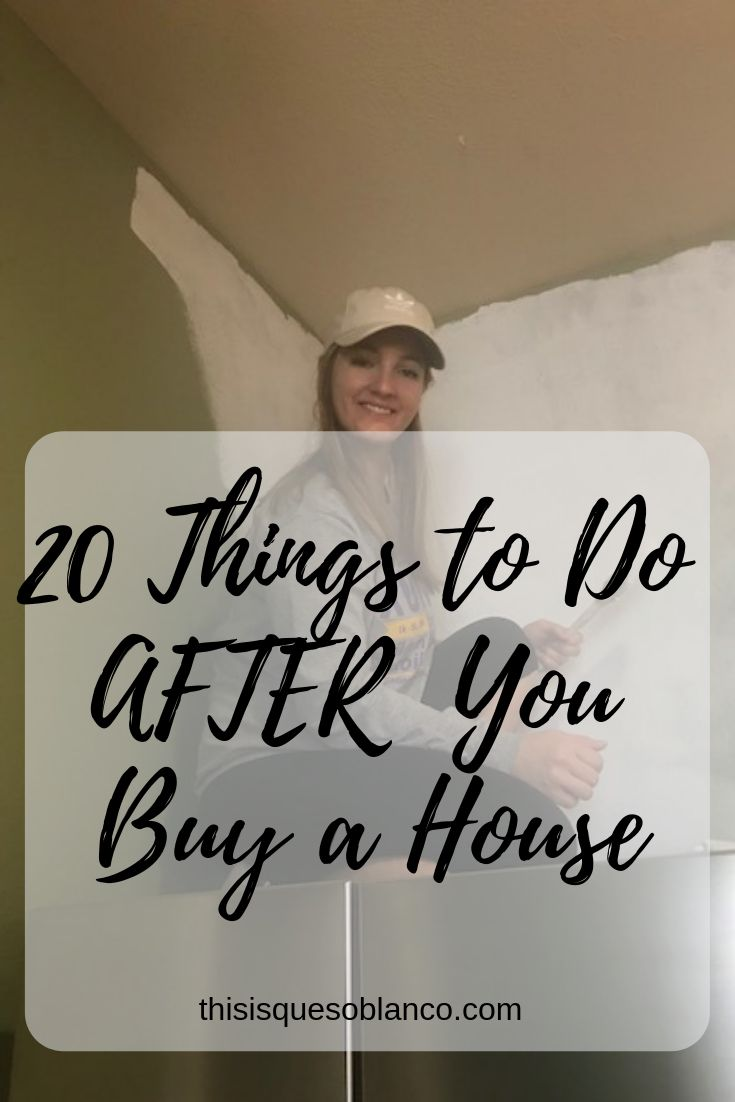 Tips and tricks of what happens after you buy a house!