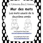 This is a set of 245 high-frequency words for use as a word wall in grade two French Immersion.  It would coordinate with our free alphabet word wa...