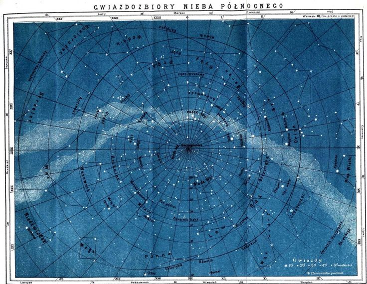 Polish Astronomy, Blue Charts, Celestial Maps, Northern Constellations, Charts Maps, Art Style, Astronomy Maps, Colors Blue, Vintage Astronomy