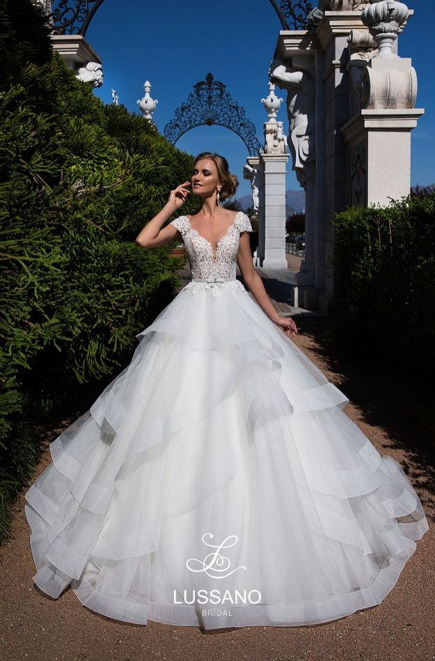 Lussano. Our famous and beautiful bridal designs. Only available in Ohi. Only us. Only one location in USA. Valentinos Bridal