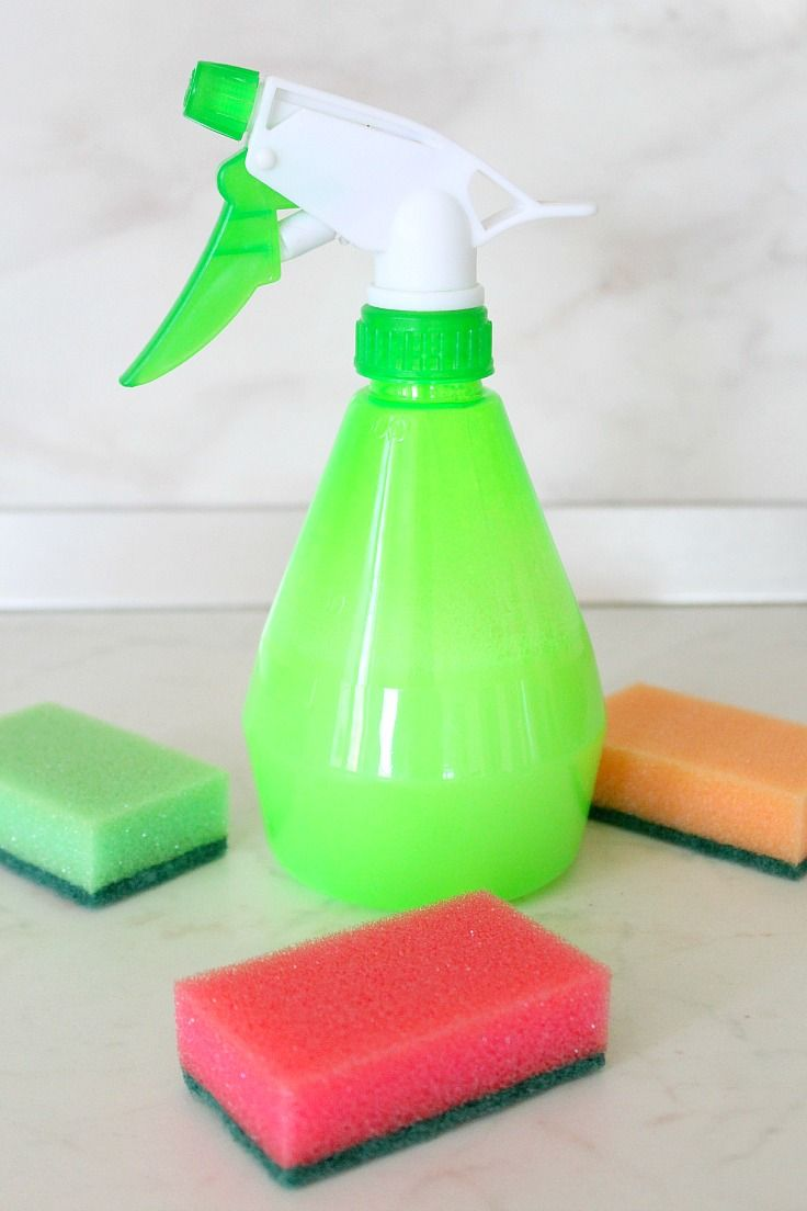 HOMEMADE MIRACLE BATHROOM CLEANER - Make your bathroom sparkle and save a pile of money while protecting your house and family from harmful chemicals when you make this simple and efficient homemade miracle bathroom cleaner.
