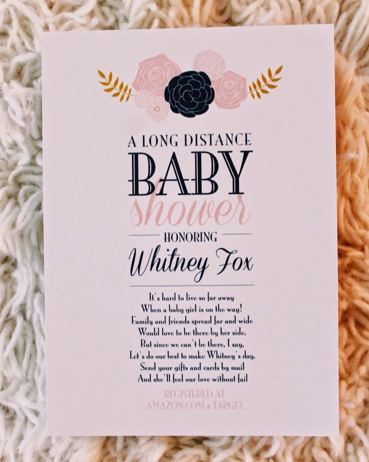 long distance baby shower. Military baby shower