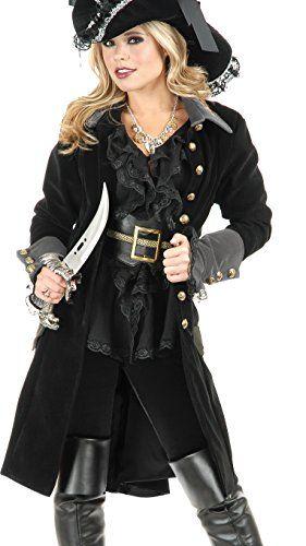 Women's Small 5-7 Black Pirate Vixen Costume Long Jacket ... https://www.amazon.com/dp/B005PR88MK/ref=cm_sw_r_pi_dp_x_bVvoybR4YHT1M
