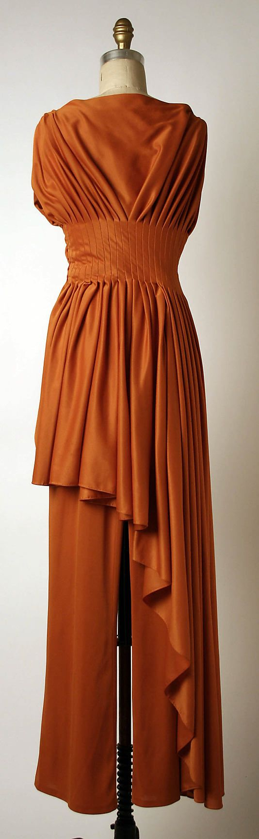 Evening pantsuit Madame Grès (Alix Barton)  (French, Paris 1903–1993 Var region)  Date: ca. 1975 Culture: French Medium: silk. Back