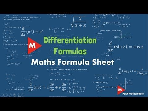 Differentiation Formulas   Maths Formula Sheet   PLAY Mathematics - YouTube