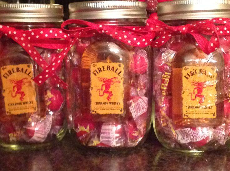 Fireball mason jar gift mason jar cocktail gifts