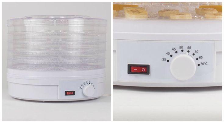 Electric Food Dehydrator Fruit Vegetable Dryer Machine Jerky Maker 5 Trays 245W #NewFoodDehydrators